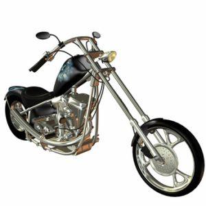 Motorrad im Zug